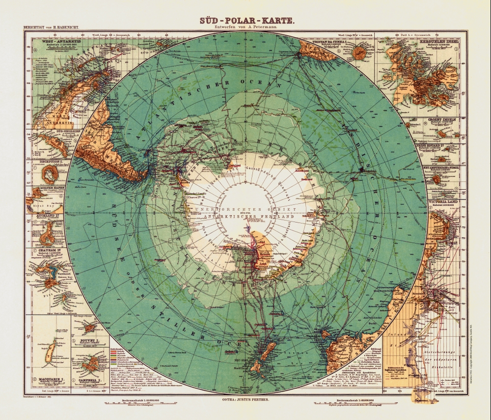 Antarctic Maps Imagined Not Appearing And Appearing The - Map antarctica